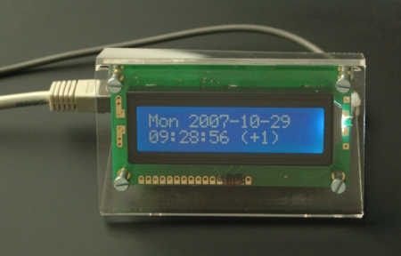 [NTP clock front view]