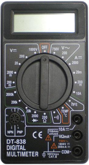 DT838 Digital multimetr вот модель.