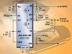 MAX17083 - новый понижающий DC/DC-регулятор