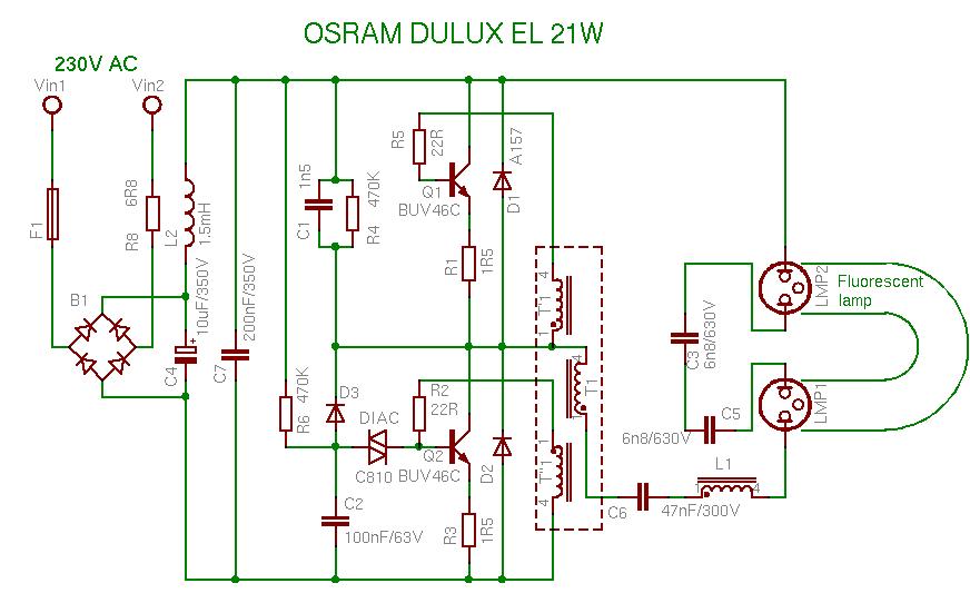 Схемы, устройство и работа энергосберегающих ламп.