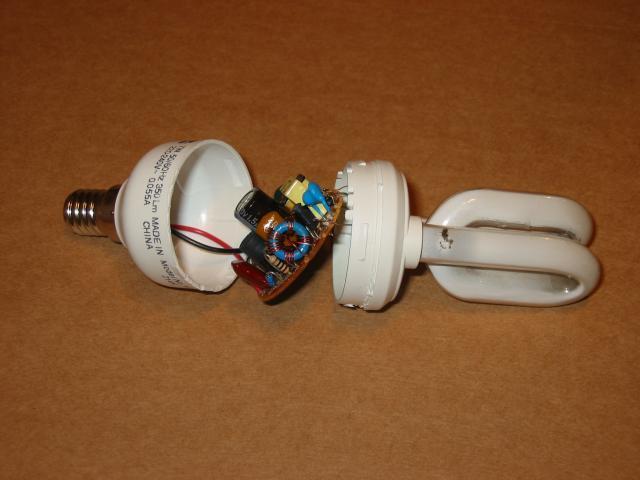 энергосберегающая лампа космос схема.