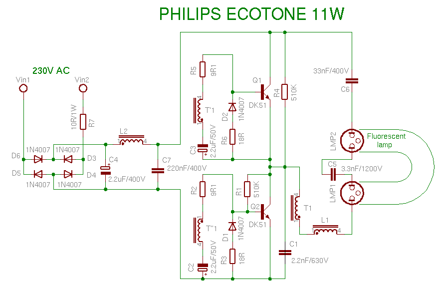 PHILIPS ECOTONE 11W
