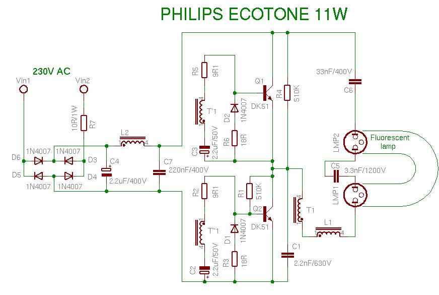 PHILIPS ECOTONE 11W