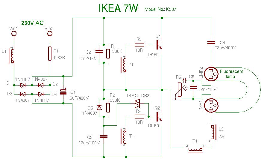 ремонт балласта люминесцентных ламп - Схемы.