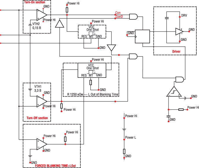 Электрическая модель IR1167