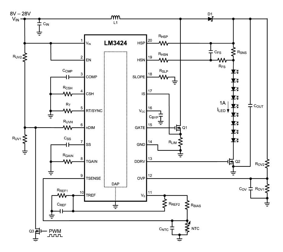 Функциональная схема LM3424