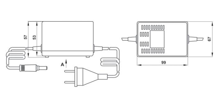 Габаритный чертеж адаптеров серии БПС-В