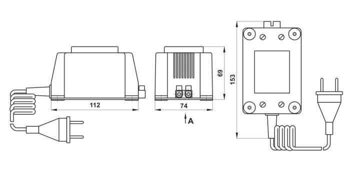 Габаритный чертеж адаптеров серии БПС-Г