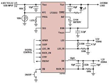 Типовая схема включения LTC3553