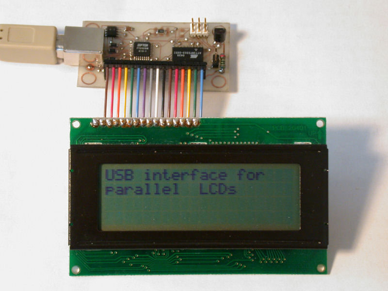USB interface for parallel LCDs