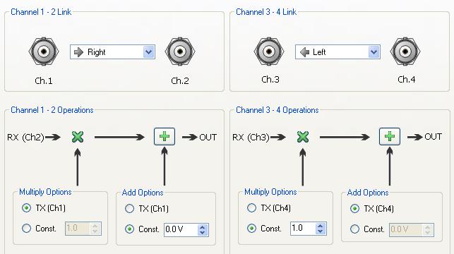 Пример окна ПО для математических действий с выходом