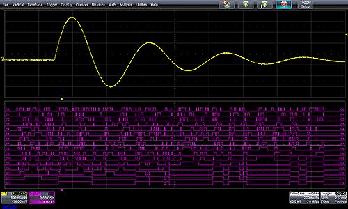 Пример формирования аналогового сигнала и логической шины, соответствующей этому аналоговому сигналу