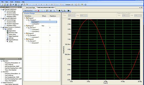 Пример окна программирования на уровне компонент сигнала