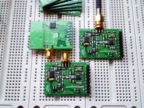CC1101 RF modem + 250mW amplifier