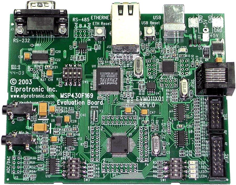 Elprotronic MSP430F169EVM