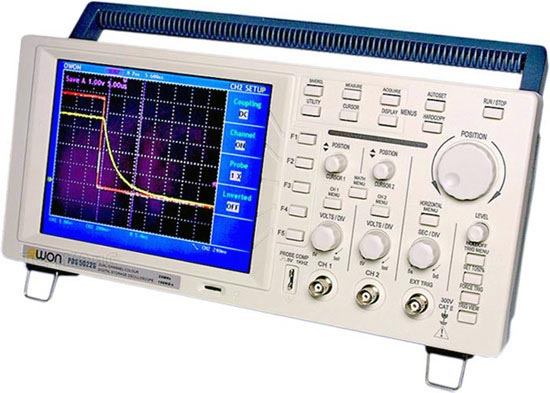 Owon Oscilloscope Display : Digital storage oscilloscope owon pds s
