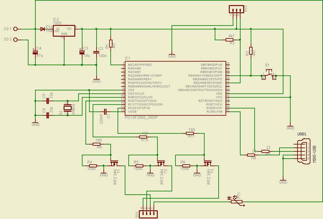 full color usb led controller click to enlarge  this is the circuit diagram for the led controller