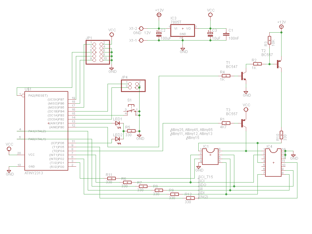 Attiny Fusebit Doctor Hvsp Schematic Of The Rs232 Adapter Click To Enlarge