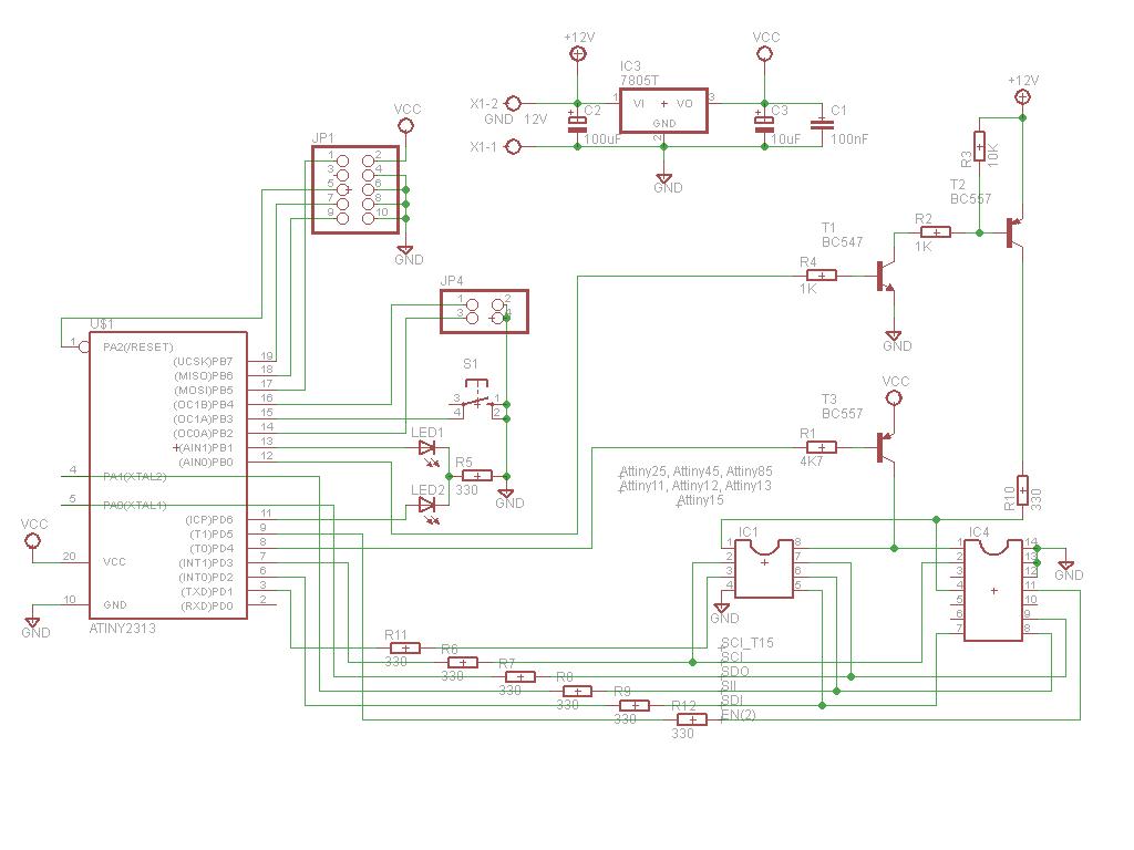 Схема: устройство для восстановления Fuse-битов AVR