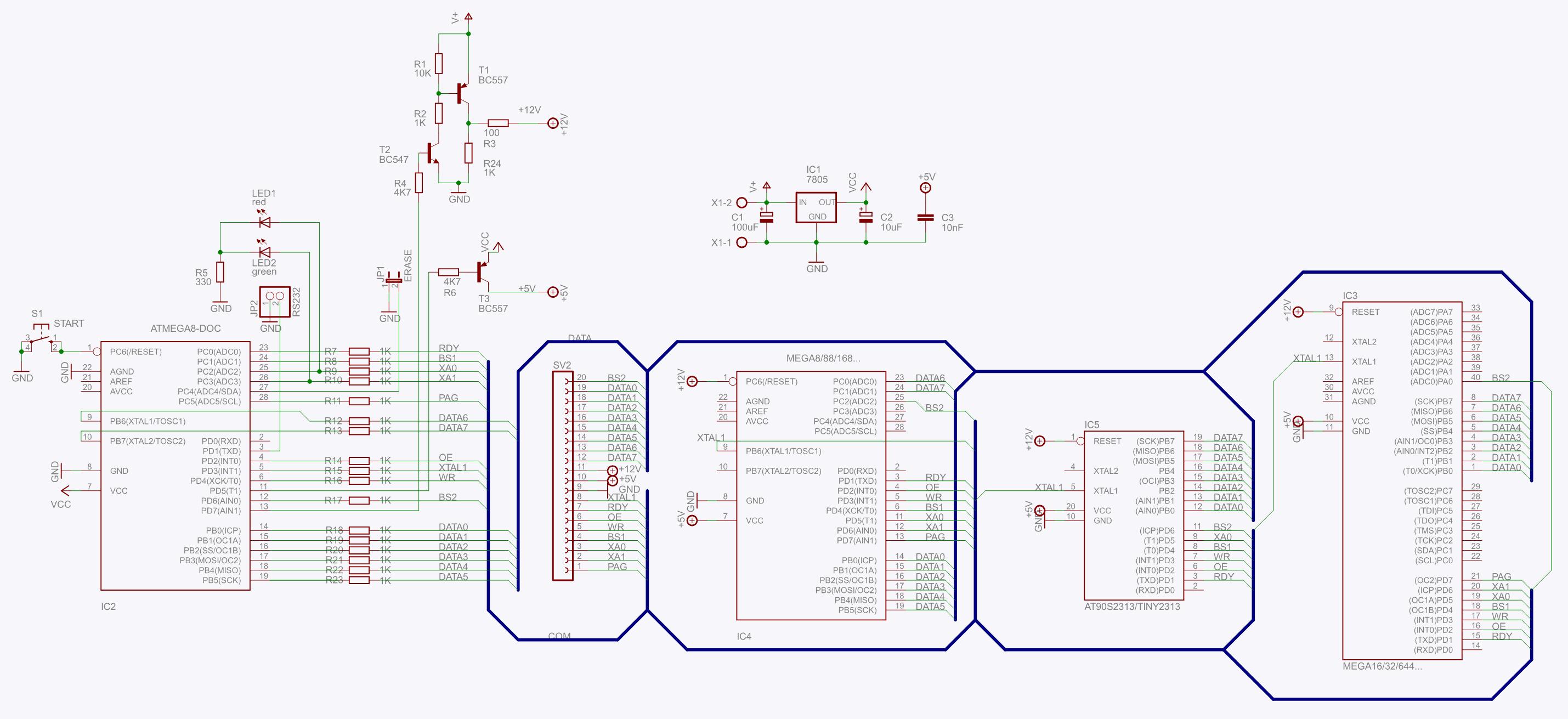 atmega168 схема включения
