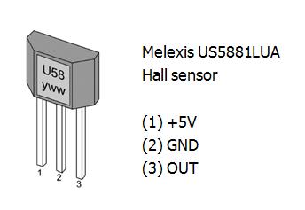 Melexis US5881LUA Hall sensor