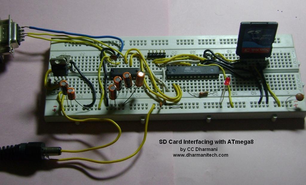 Подключение SD и SDHC карт памяти к микроконтроллерам ATmega8 / Atmega32.