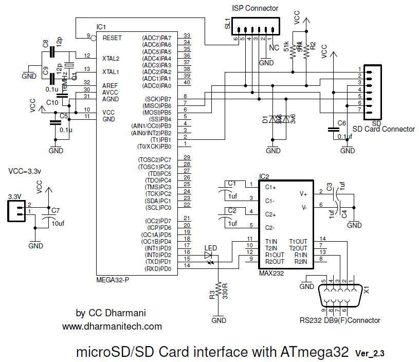 Подключение SD карты памяти к микроконтроллеру ATmega32