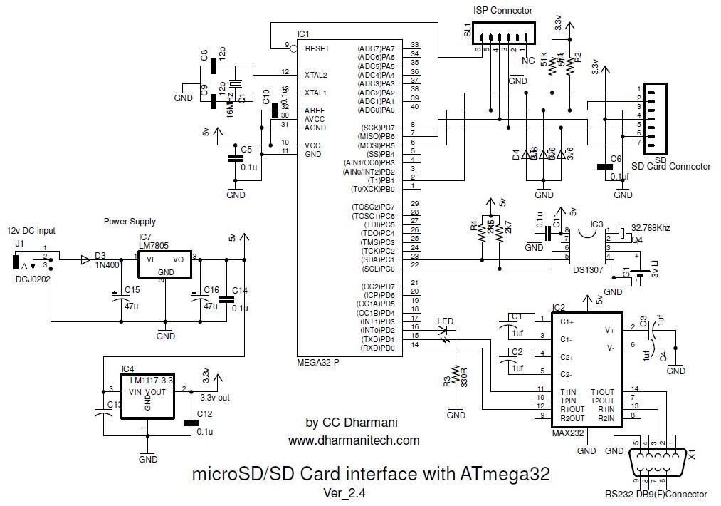 sd  sdhc card interfacing with atmega8   32  fat32