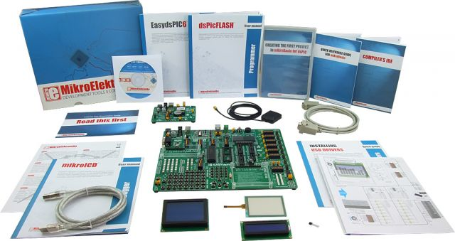 MikroElektronika: Easy GPS Kit 1 – dsPIC, Easy GPS Kit 2 – dsPIC, Easy GPS Kit 3 – dsPIC
