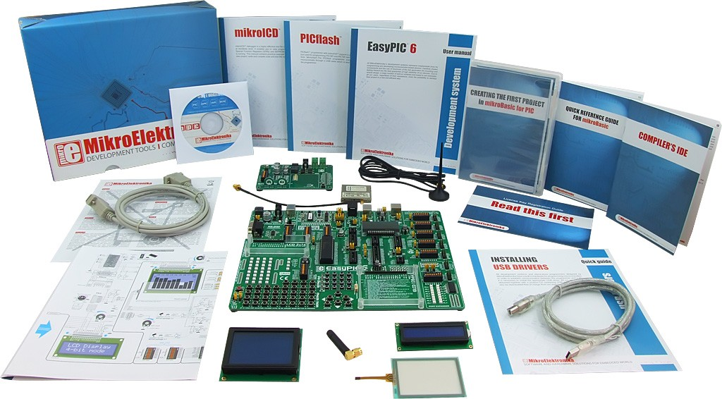 MikroElektronika: Easy GSM Kit 1 – PIC, Easy GSM Kit 2 – PIC, Easy GSM Kit 3 – PIC