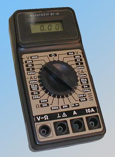 инструкция на вольтметр в7
