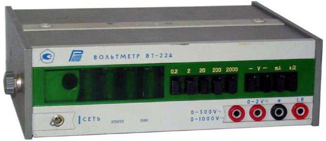 Схема вольтметра В7 - 22А.