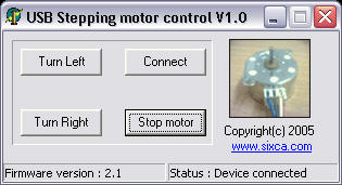 Control stepping motor via USB interface