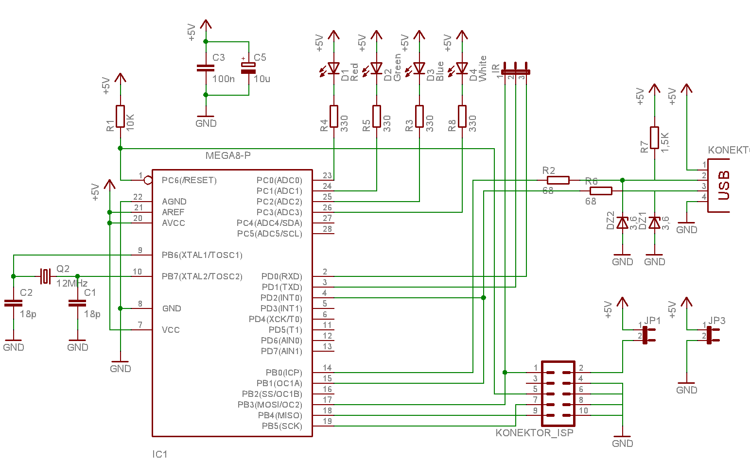 Atmel Avr Infrared Downloader Part 1 Host Side Parts Of Generator Circuit Diagram Buy Ir Device Shematic