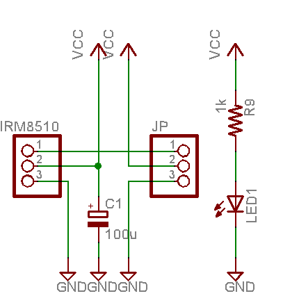AVR IR Downloader: IR receiver circuit