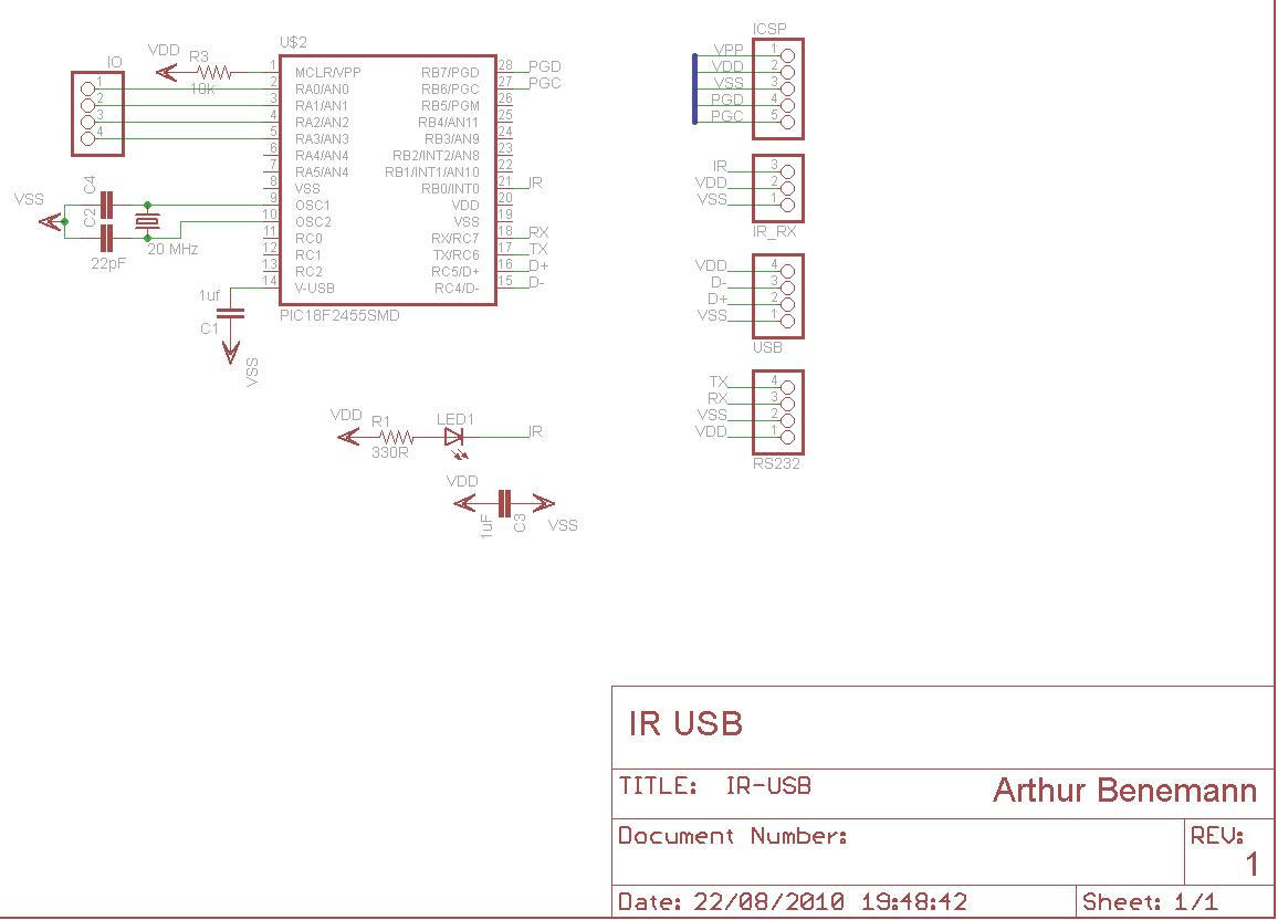 Usb Ir Receiver Schematic Usbtiny Remote Controlled Mouse Infrared Circuit On Pic F