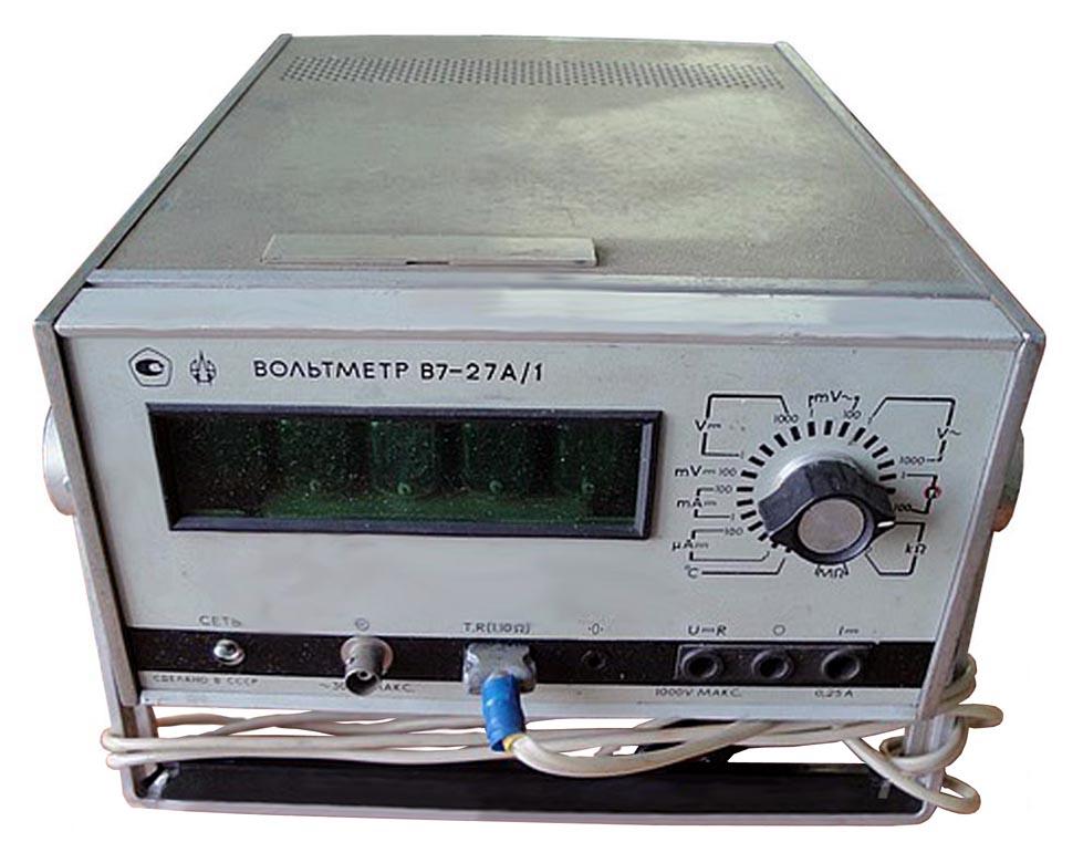 В727А; цена В7-27А...  Модификации вольтметра отличаются диапазоном частот измеряемого переменного напряжения...