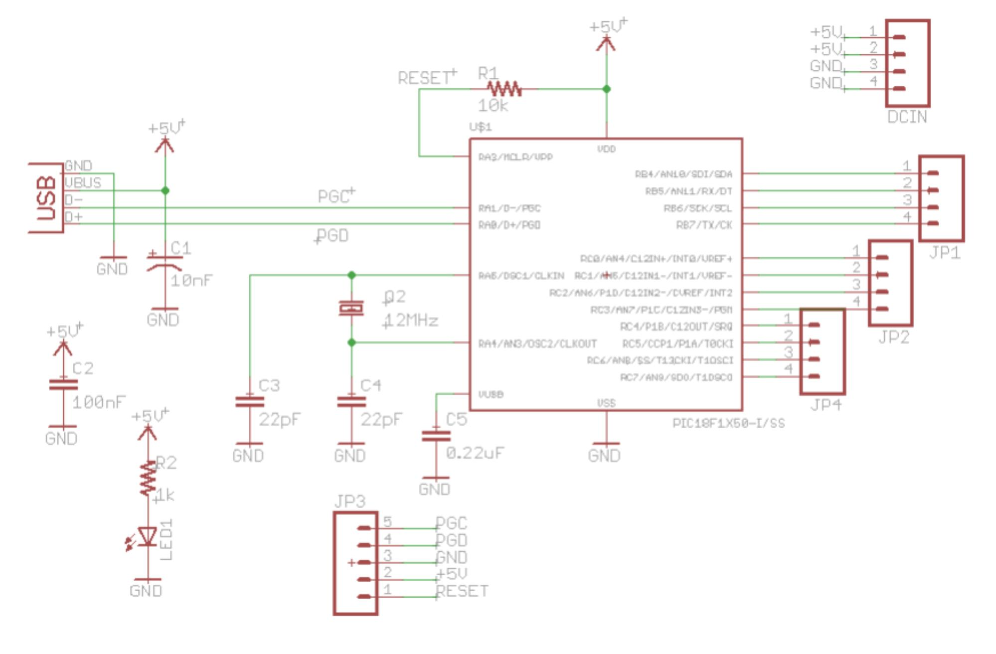 USB Small Peripheral Board (aka PIC18F14K50 Board)