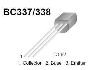 BC337 Pin out