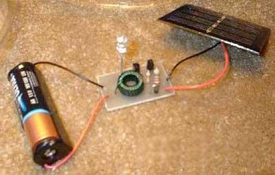 Батарейка для светодиода