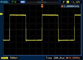 DDS генератор на Atmega16: сигнал прямоугольной формы