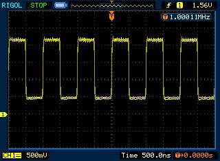 DDS генератор на Atmega16: высокочастотный сигнал 1 МГц