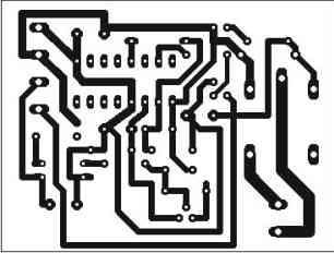 Digital Impulse Relay. PCB bottom