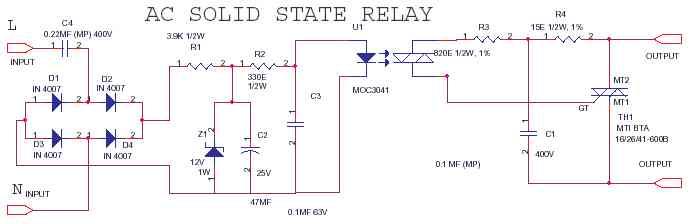 AC-AC-SSR Solid State Relay