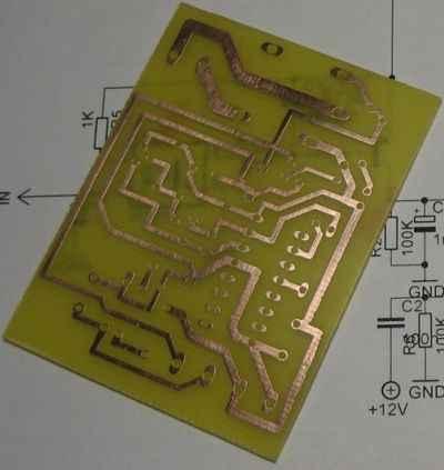 Digital Impulse Relay. PCB