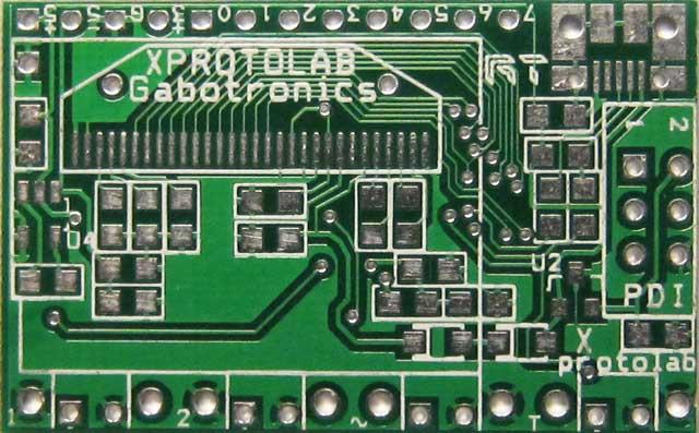 PCB: mixed signal oscilloscope Xprotolab on  ATXMEGA32
