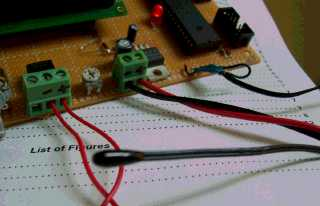 The thermistor sensor tied to analog channel 1.