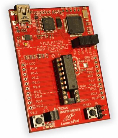 Texas Instruments: MSP-EXP430G2 Development Kit (MSP430 LaunchPad)