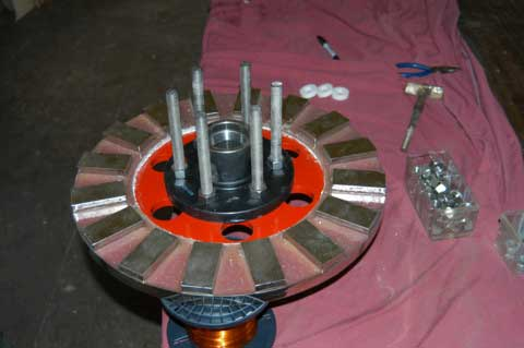 We have the back magnet rotor