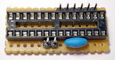 Плата для 28 выводного микроконтроллера AVR Atmega8 в DIP корпусе